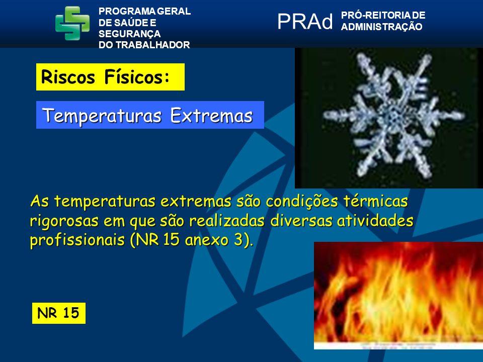 PRAd Riscos Físicos: Temperaturas Extremas