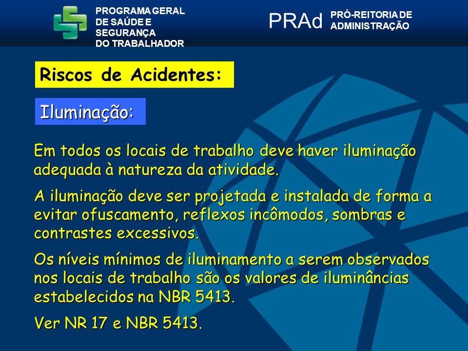 PRAd Riscos de Acidentes: Iluminação: