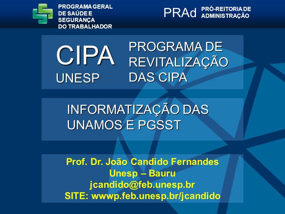 Prof. Dr. João Candido Fernandes SITE: wwwp.feb.unesp.br/jcandido