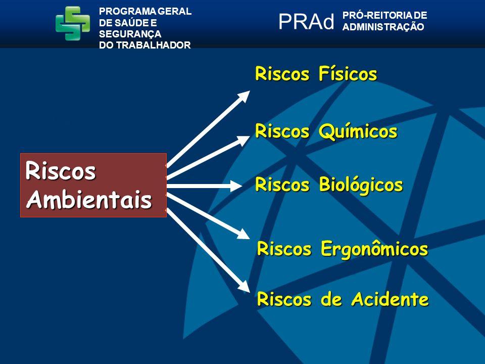 Riscos Ambientais PRAd Riscos Físicos Riscos Químicos
