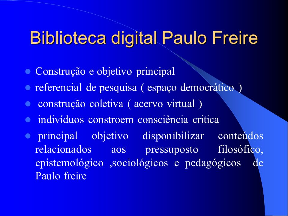Biblioteca digital Paulo Freire