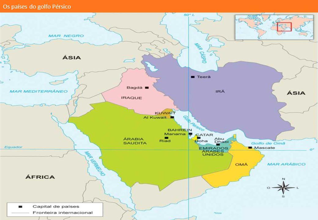Os países do golfo Pérsico