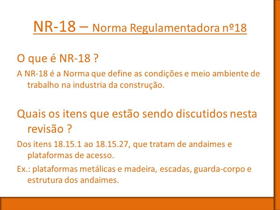 NR-18 – Norma Regulamentadora nº18
