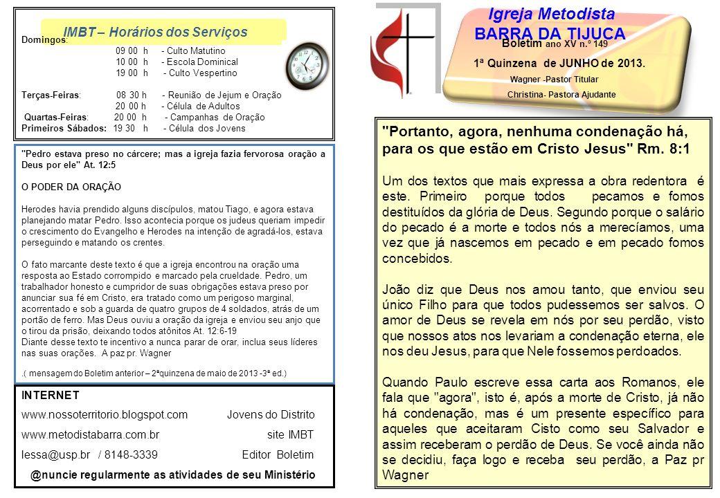 Wagner -Pastor Titular Christina- Pastora Ajudante