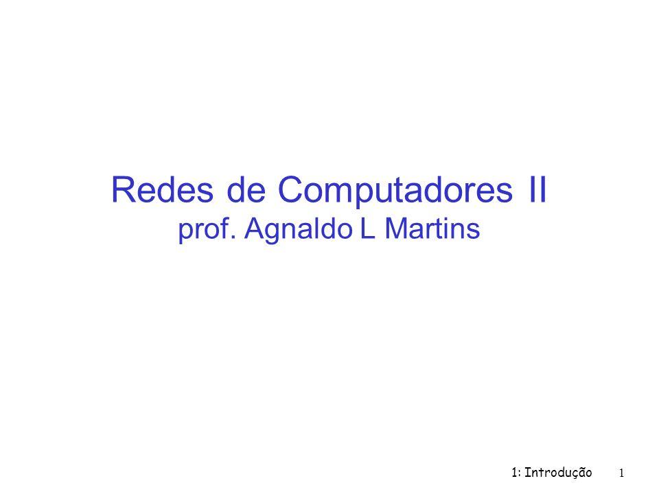 Redes de Computadores II prof. Agnaldo L Martins