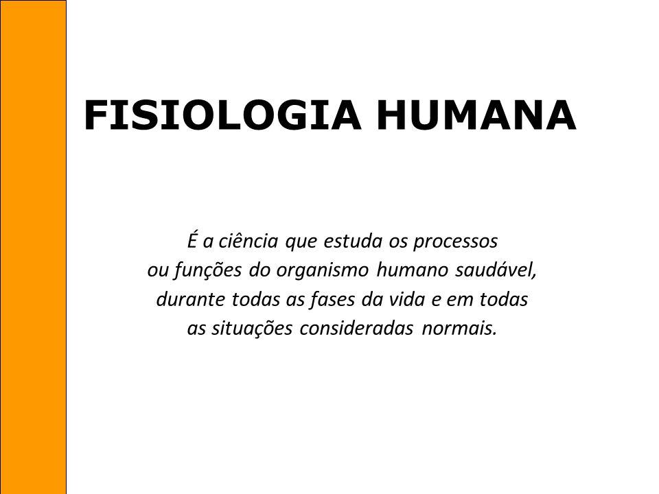 FISIOLOGIA HUMANA É a ciência que estuda os processos