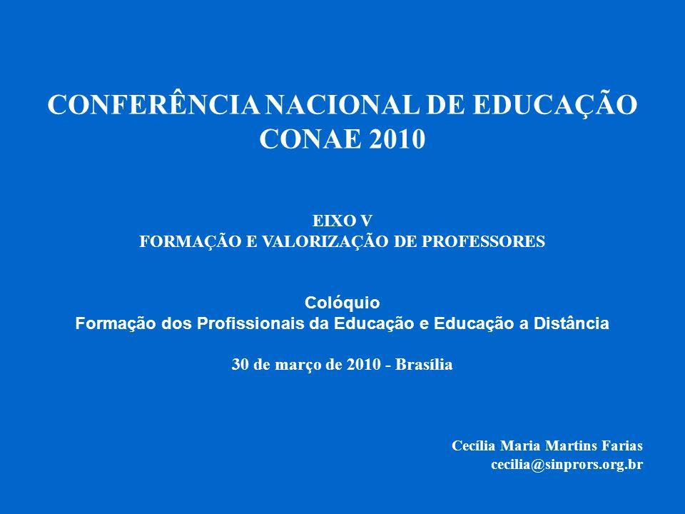 CONFERÊNCIA NACIONAL DE EDUCAÇÃO CONAE 2010