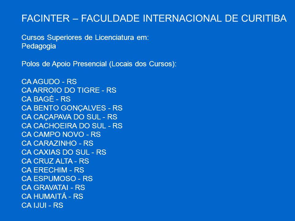 FACINTER – FACULDADE INTERNACIONAL DE CURITIBA