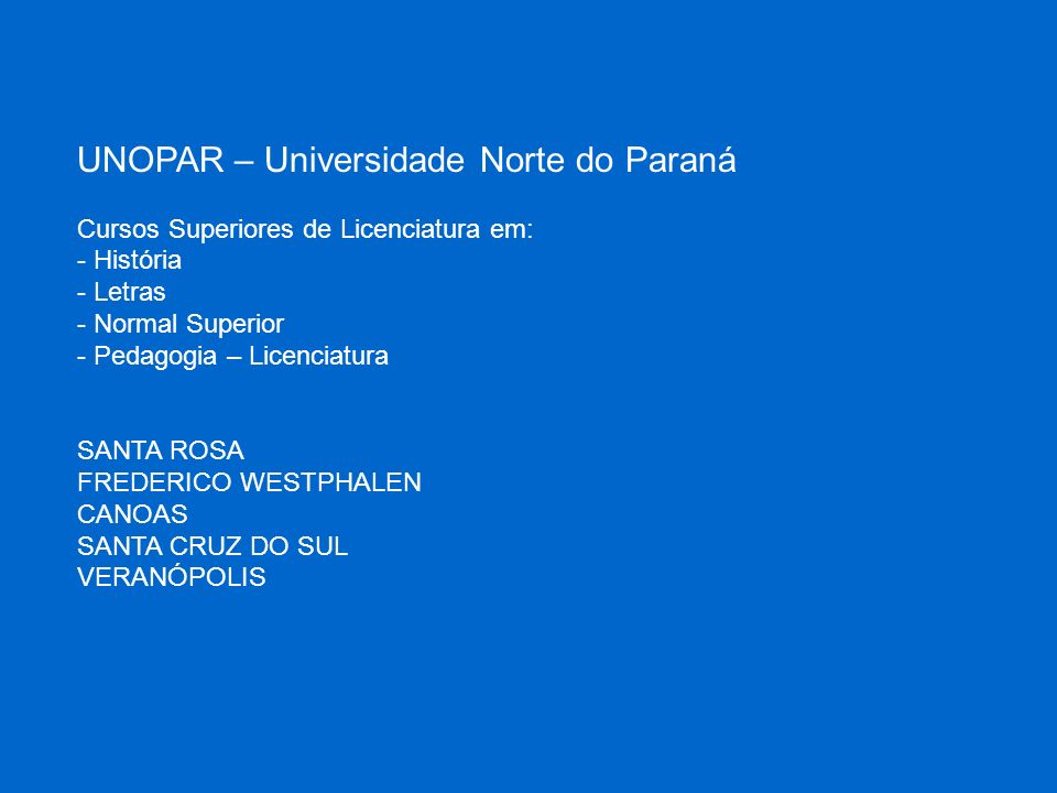 UNOPAR – Universidade Norte do Paraná