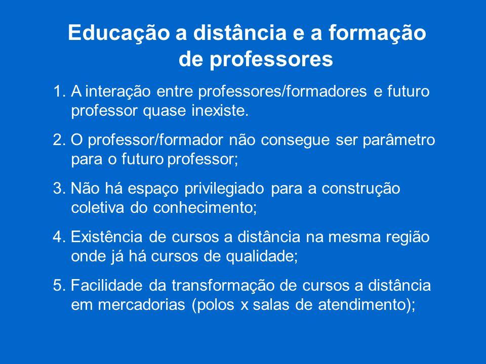 Educação a distância e a formação de professores