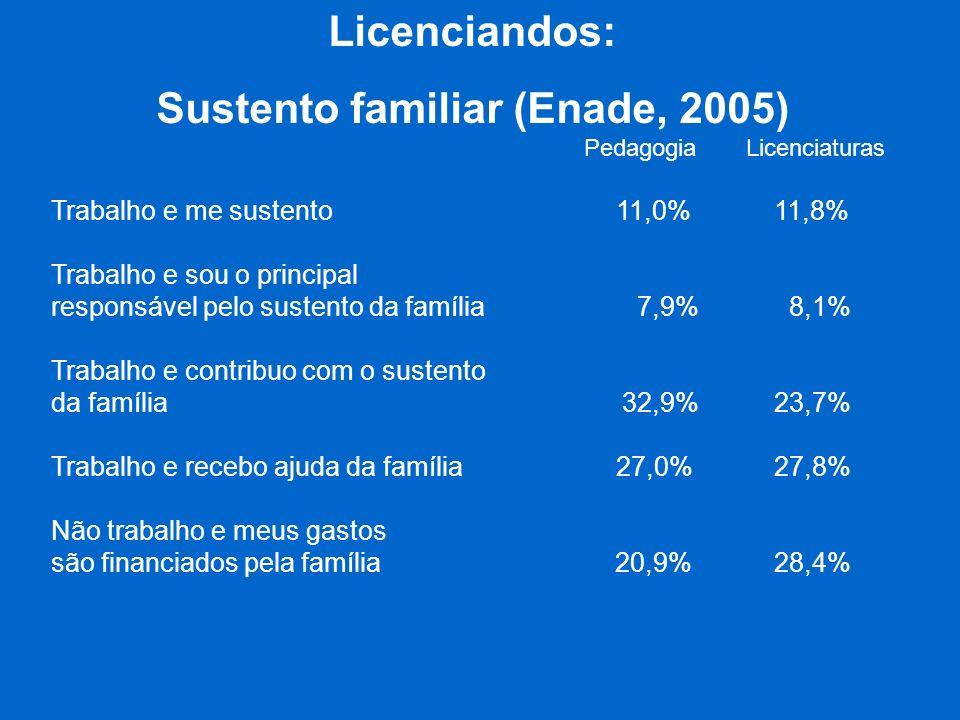 Sustento familiar (Enade, 2005)