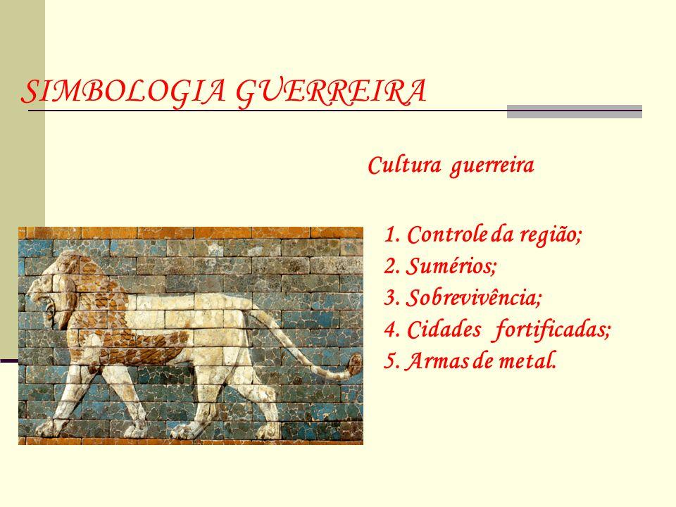 SIMBOLOGIA GUERREIRA Cultura guerreira 1. Controle da região;