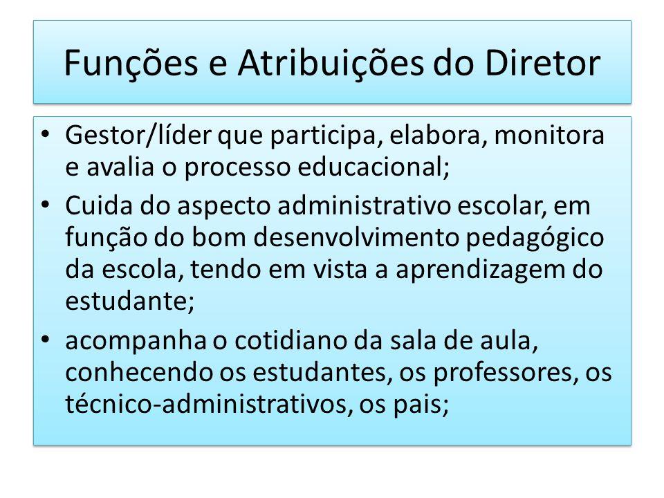 Funções e Atribuições do Diretor