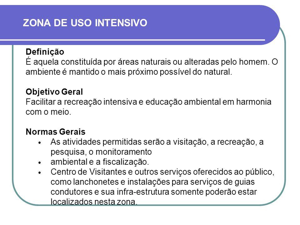ZONA DE USO INTENSIVO Definição