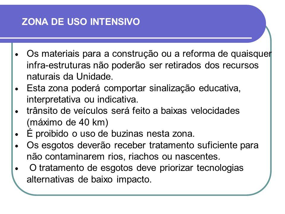 ZONA DE USO INTENSIVO