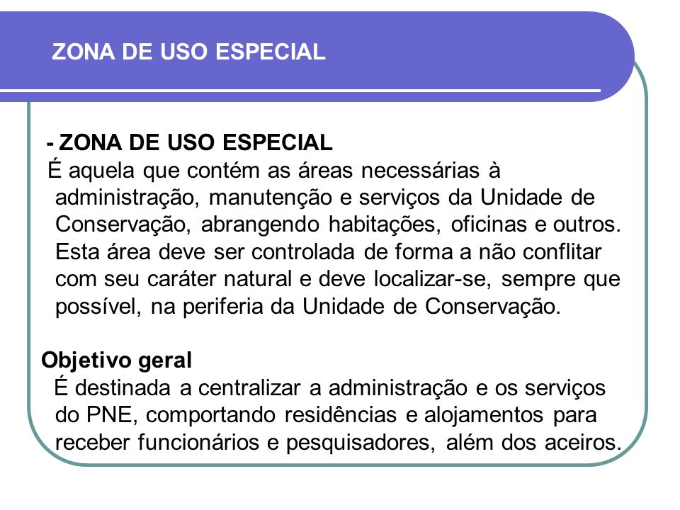 ZONA DE USO ESPECIAL - ZONA DE USO ESPECIAL.