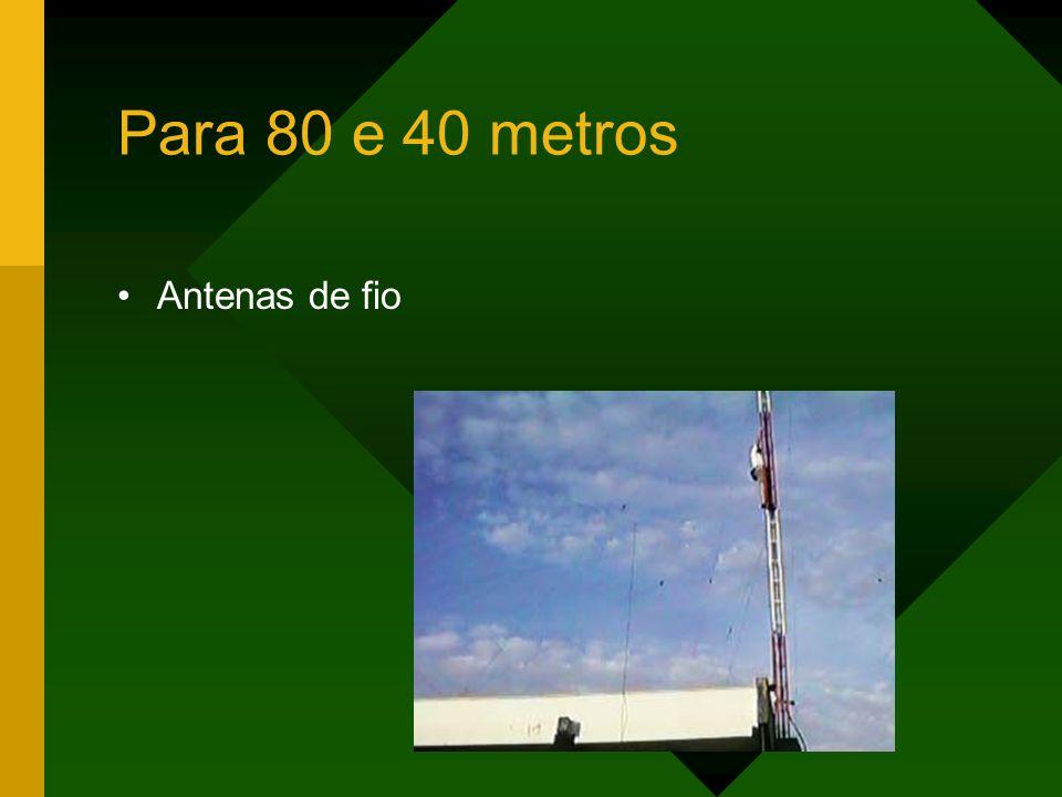 Para 80 e 40 metros Antenas de fio