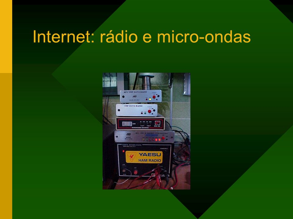 Internet: rádio e micro-ondas