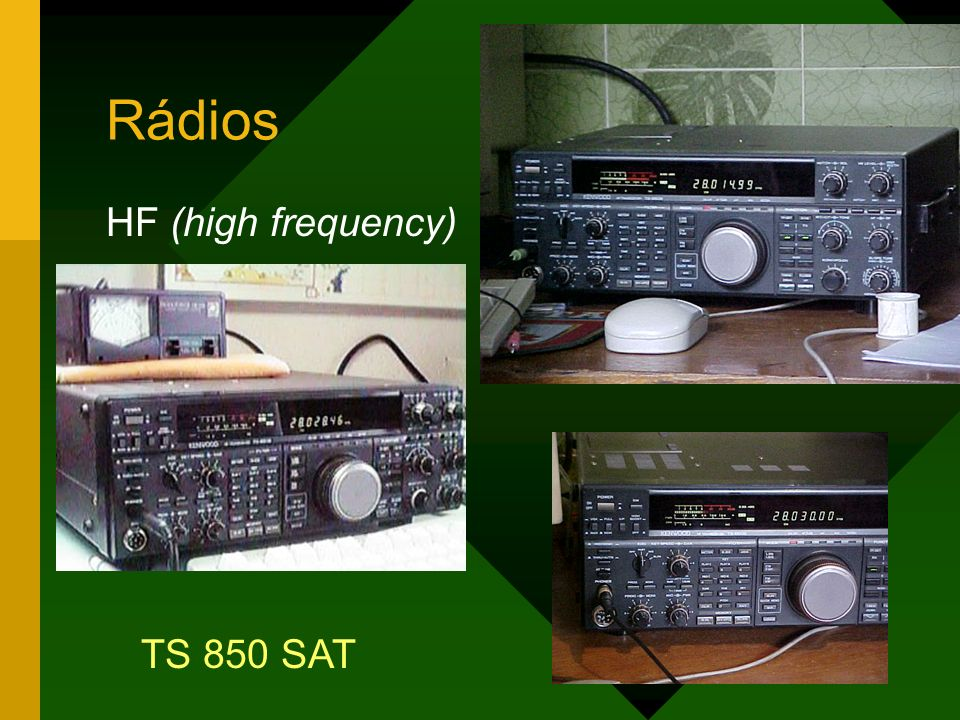 Rádios HF (high frequency) TS 850 SAT