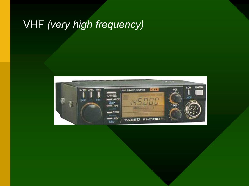 VHF (very high frequency)