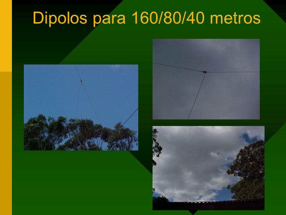 Dipolos para 160/80/40 metros