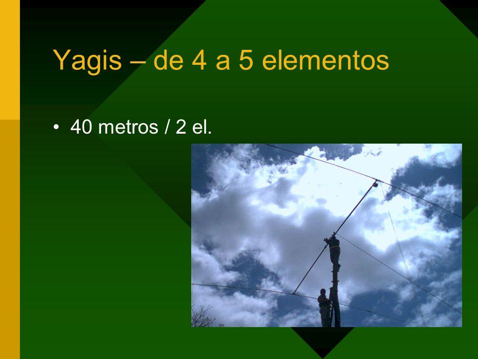 Yagis – de 4 a 5 elementos 40 metros / 2 el.