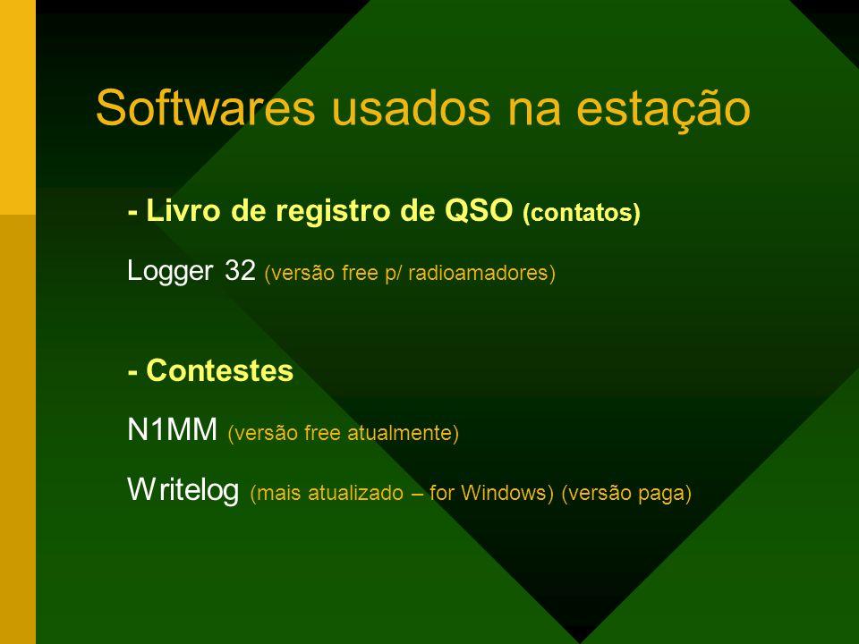Softwares usados na estação