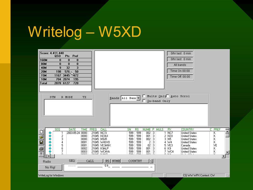 Writelog – W5XD