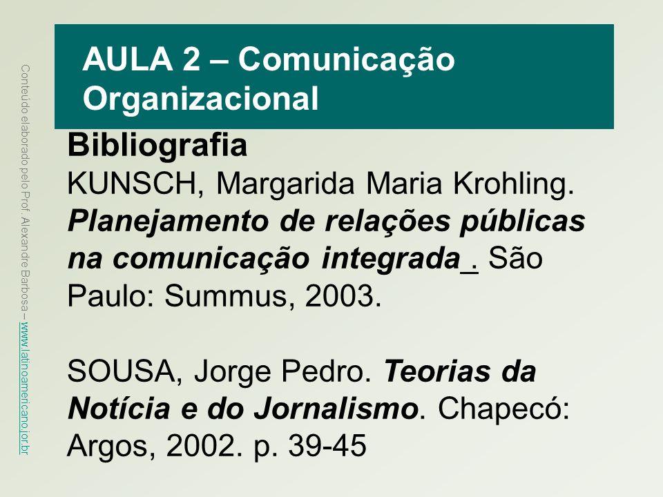 AULA 2 – Comunicação Organizacional