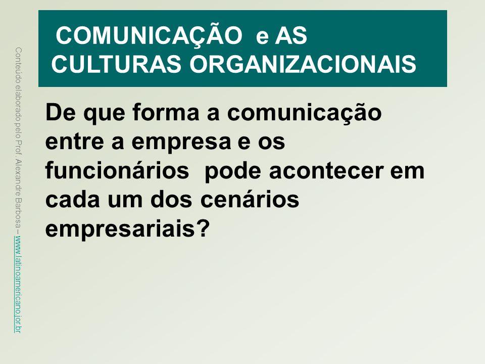 COMUNICAÇÃO e AS CULTURAS ORGANIZACIONAIS