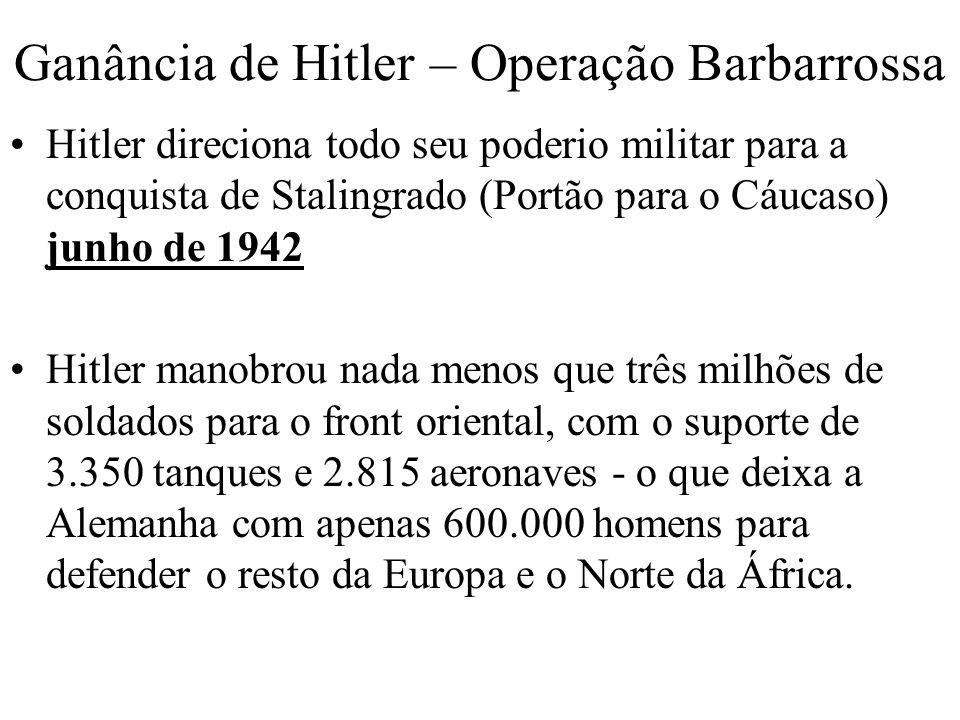 Ganância de Hitler – Operação Barbarrossa