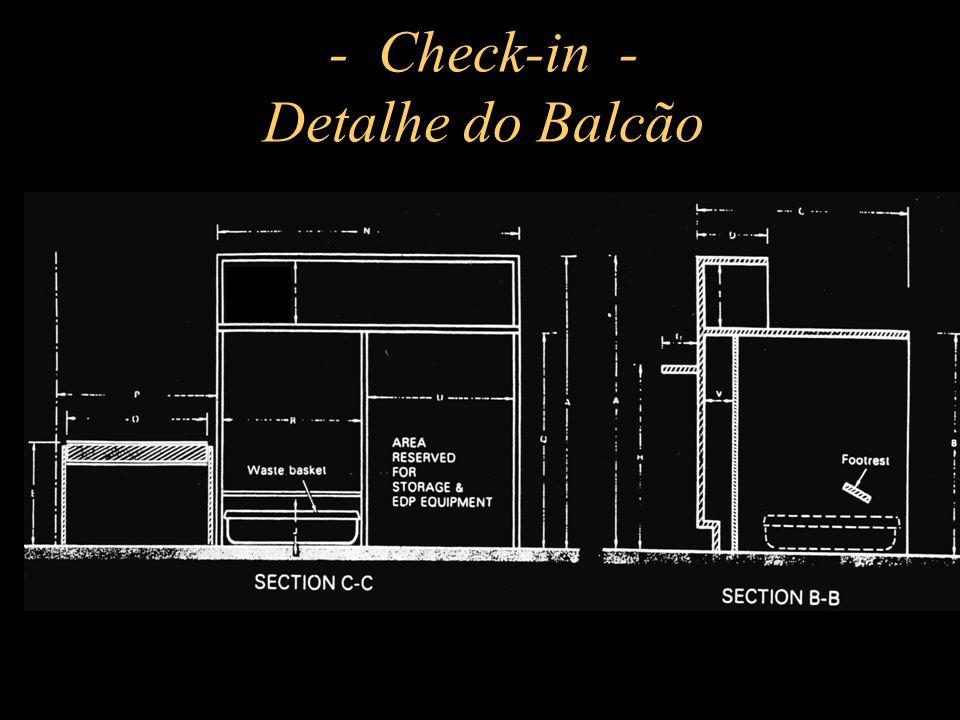 - Check-in - Detalhe do Balcão