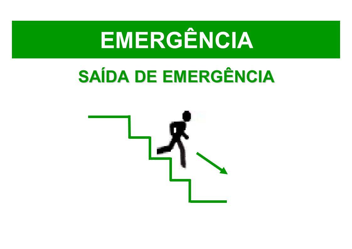 EMERGÊNCIA SAÍDA DE EMERGÊNCIA