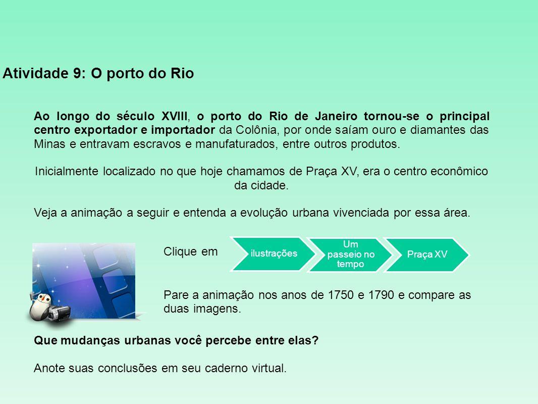 Atividade 9: O porto do Rio
