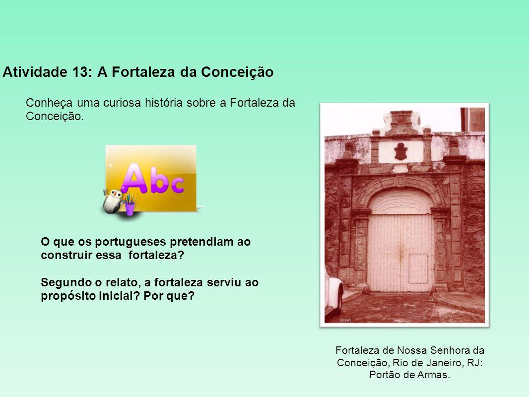 Atividade 13: A Fortaleza da Conceição