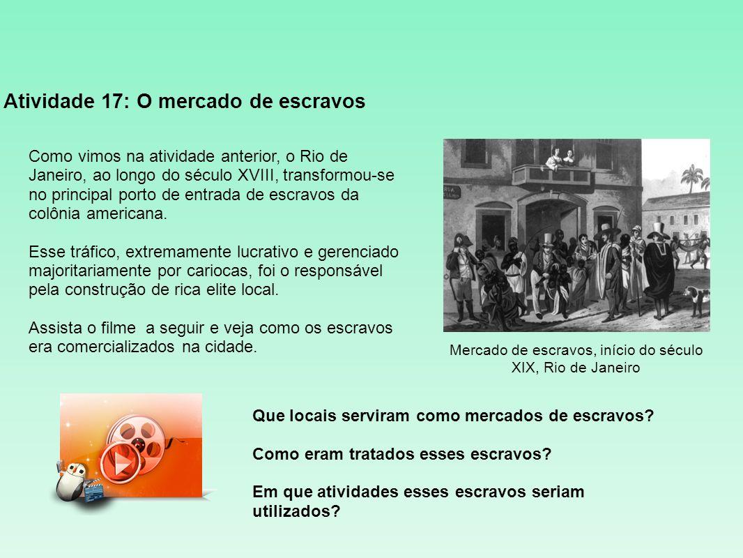 Atividade 17: O mercado de escravos