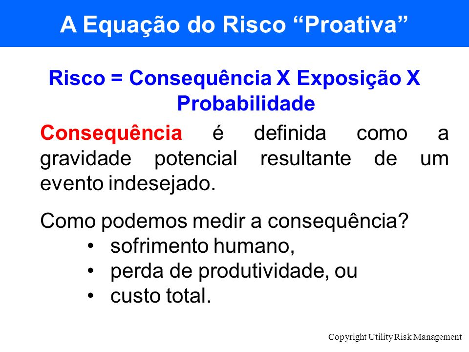 A Equação do Risco Proativa