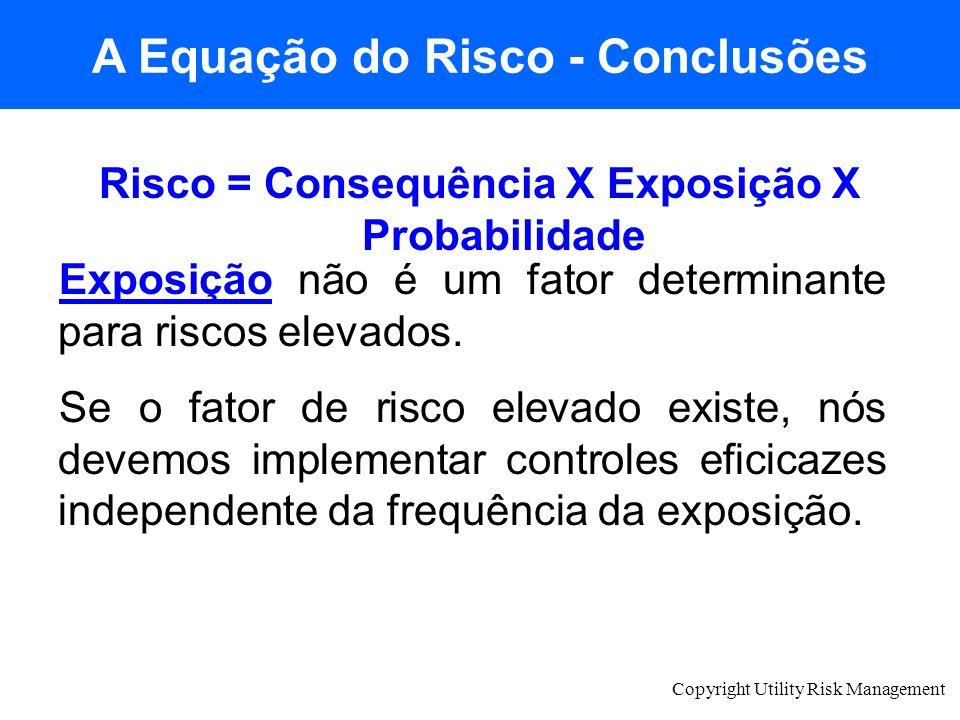 A Equação do Risco - Conclusões