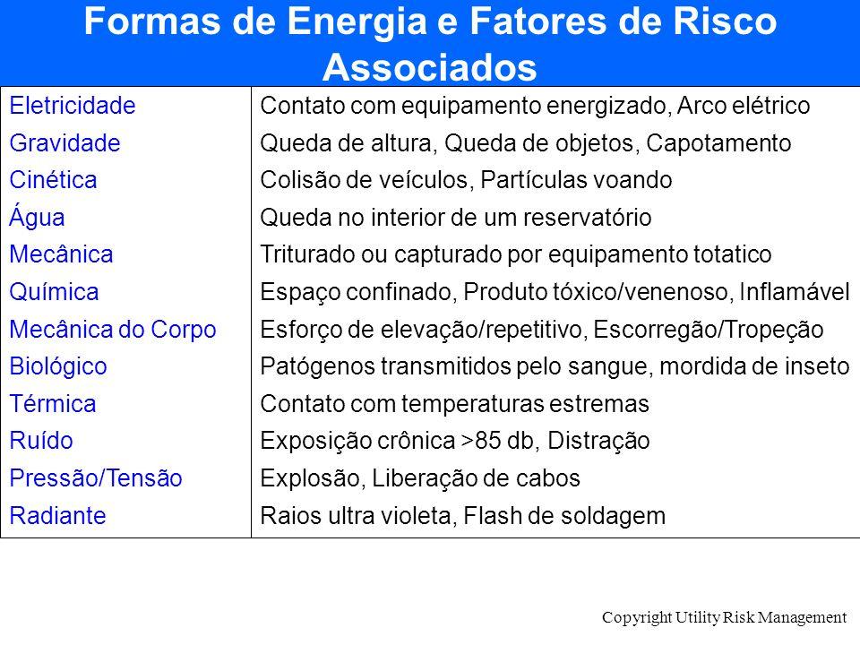 Formas de Energia e Fatores de Risco Associados