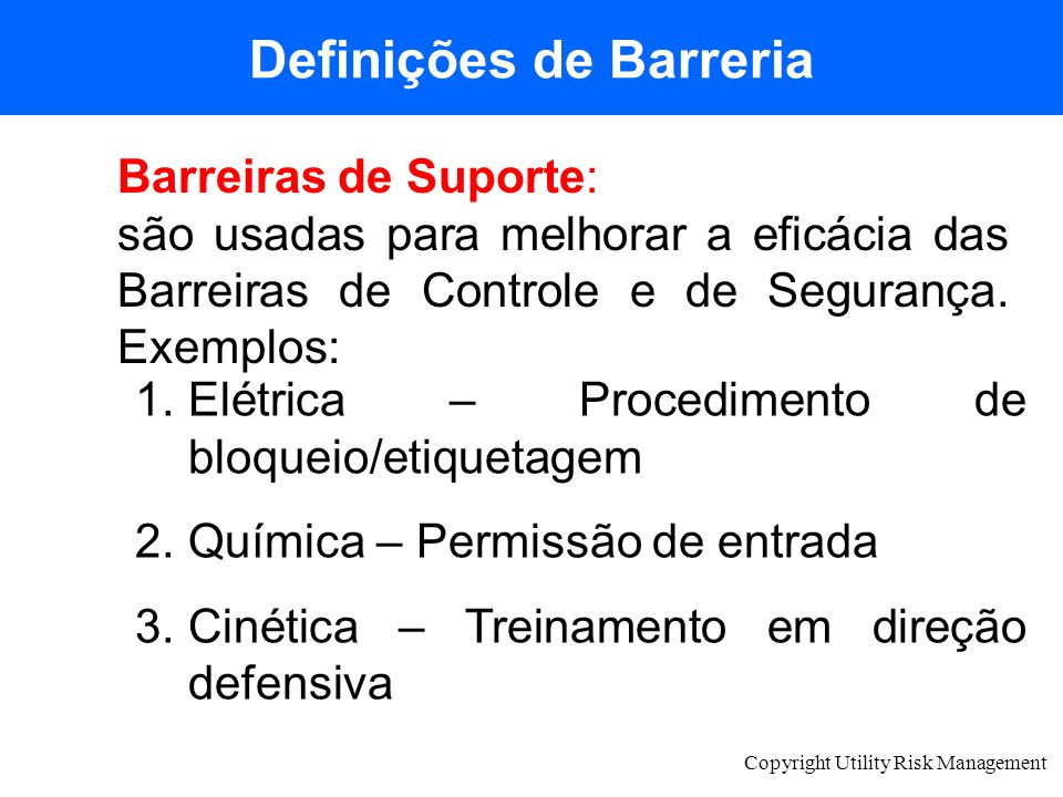 Definições de Barreria