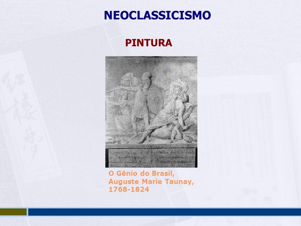 NEOCLASSICISMO PINTURA O Gênio do Brasil, Auguste Marie Taunay,