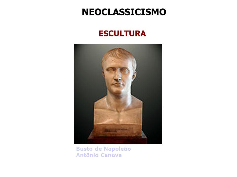 NEOCLASSICISMO ESCULTURA Busto de Napoleão Antônio Canova