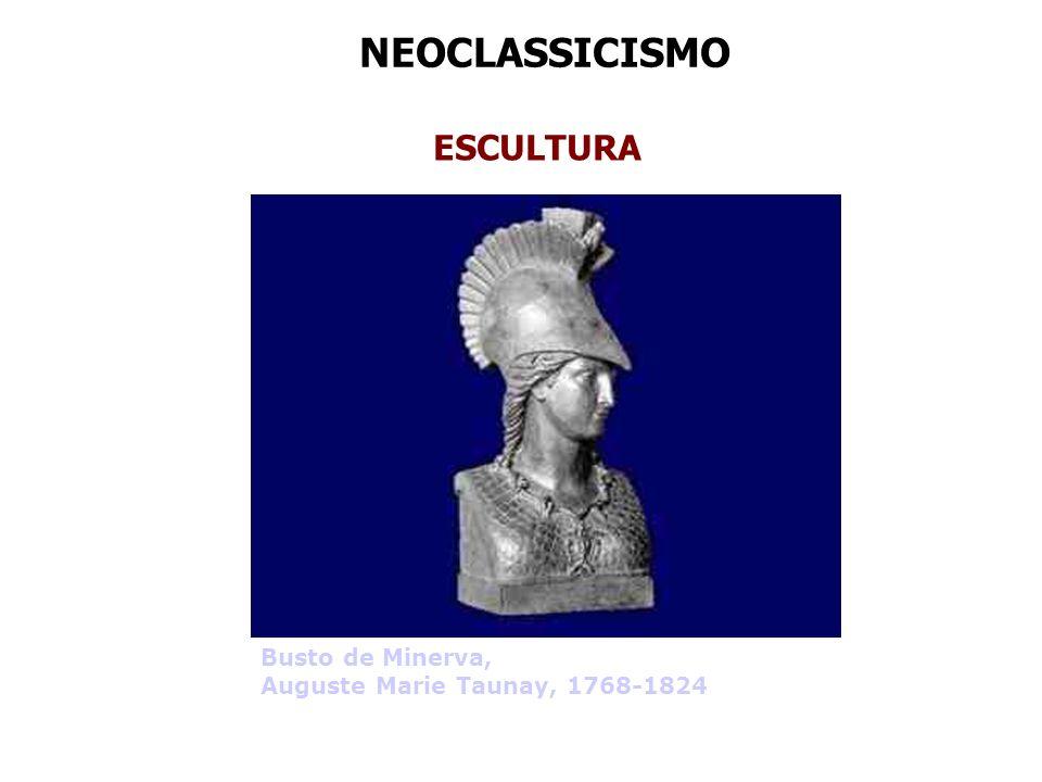 NEOCLASSICISMO ESCULTURA Busto de Minerva,