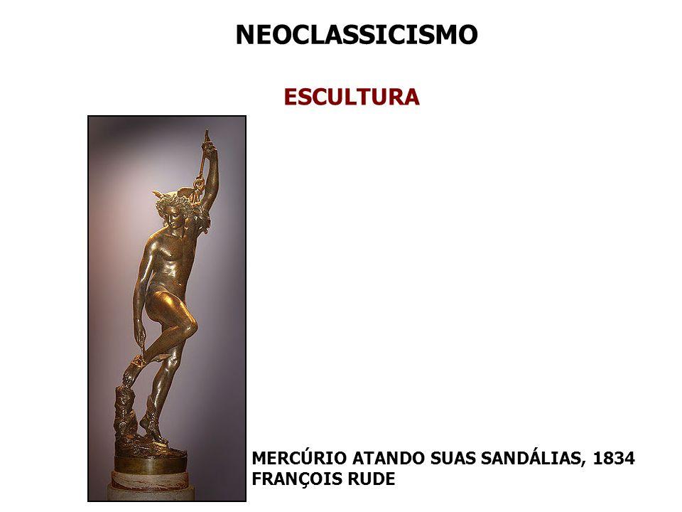 NEOCLASSICISMO ESCULTURA MERCÚRIO ATANDO SUAS SANDÁLIAS, 1834