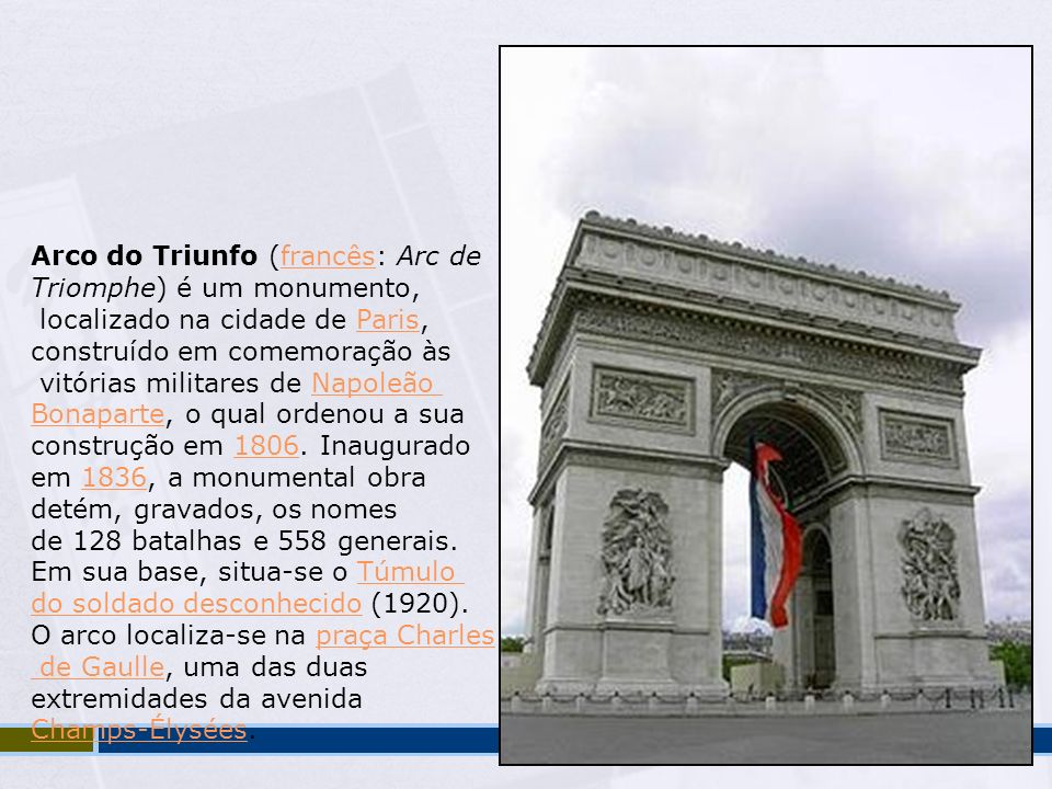 Arco do Triunfo (francês: Arc de