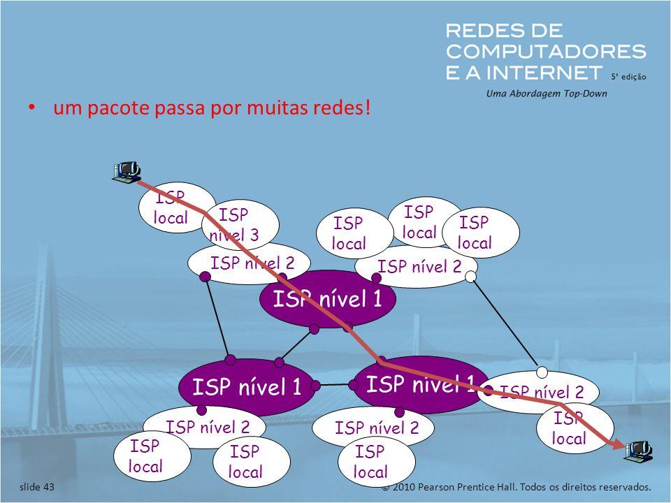 um pacote passa por muitas redes!