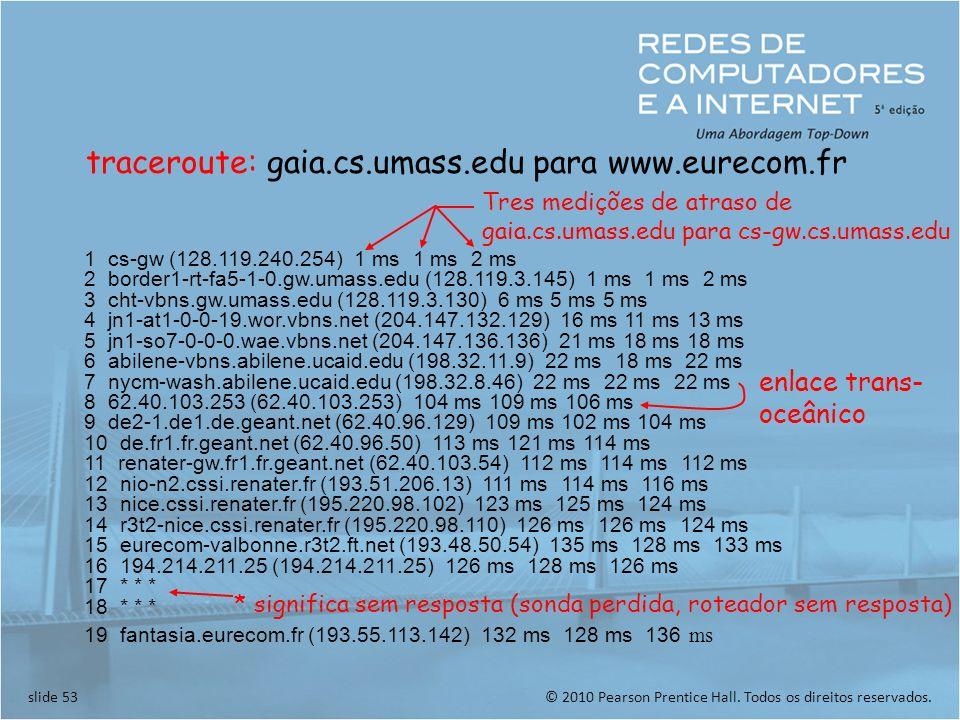 traceroute: gaia.cs.umass.edu para www.eurecom.fr