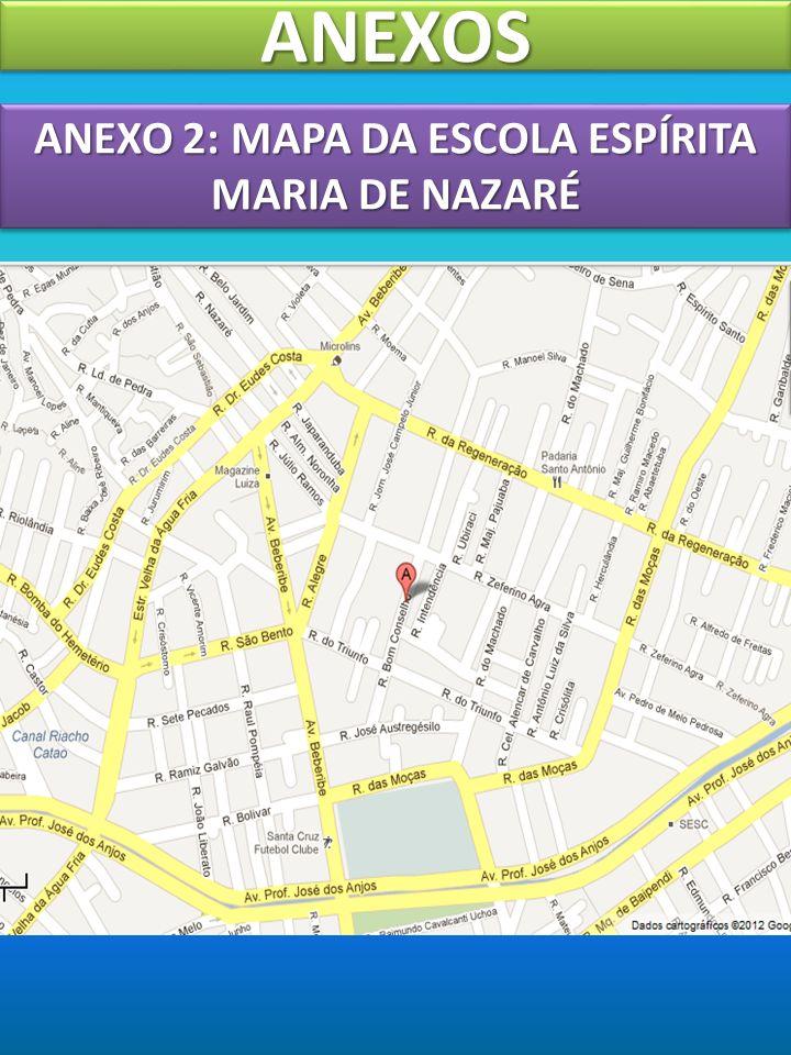 ANEXO 2: MAPA DA ESCOLA ESPÍRITA MARIA DE NAZARÉ