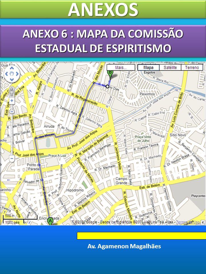 ANEXO 6 : MAPA DA COMISSÃO ESTADUAL DE ESPIRITISMO
