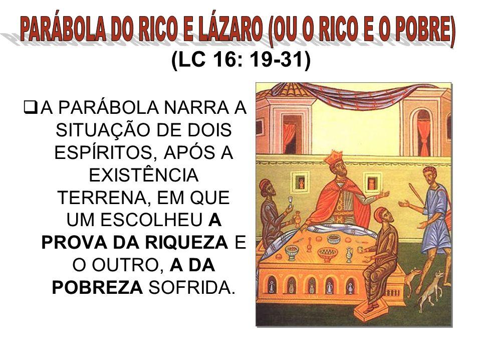 PARÁBOLA DO RICO E LÁZARO (OU O RICO E O POBRE)